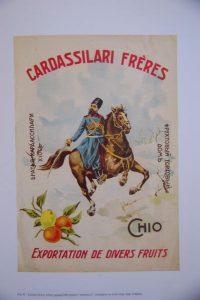 Publicité pour les agrumes de Chios