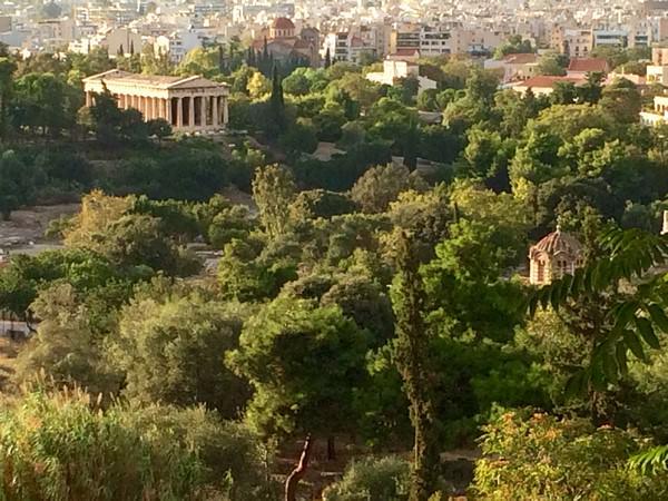 La partie Ouest de l'agora à Athènes où se trouvait la Boulée