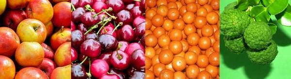 Exemple de fruits pouvant être transformés en Gliko Tou Koutaliou