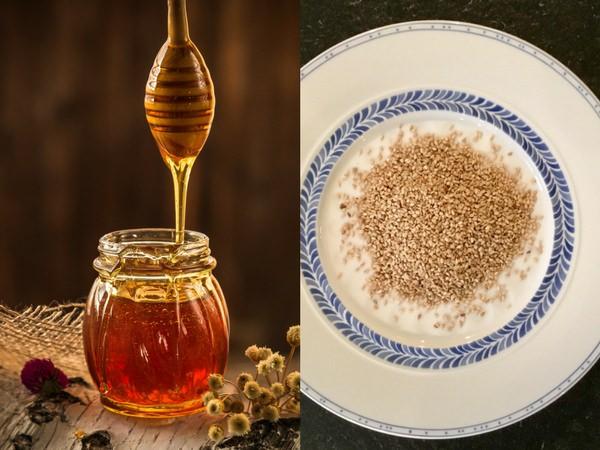 Base de la recette des pasteli : le miel et le sésame