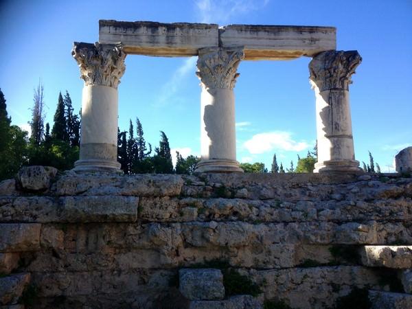 Corinthe - Ruines du Temple d'Octavia