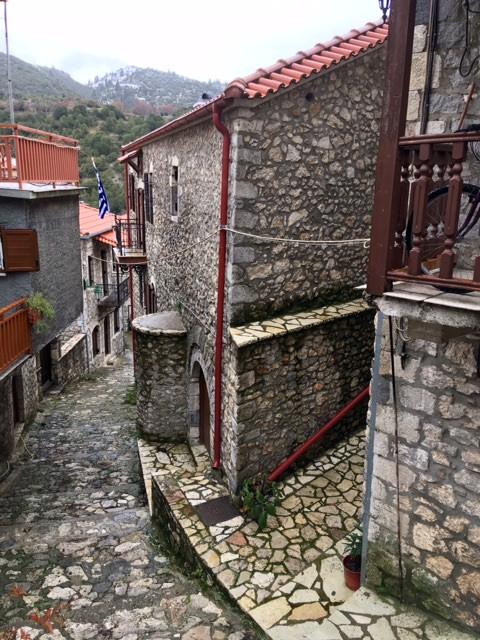 Ruelle typique des villages d'Arcadie